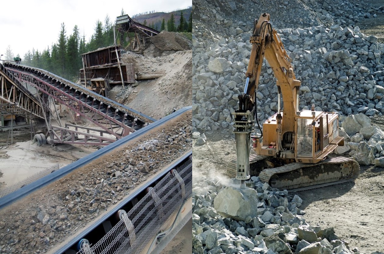 Aggregate Processing in Western Canada Quarry